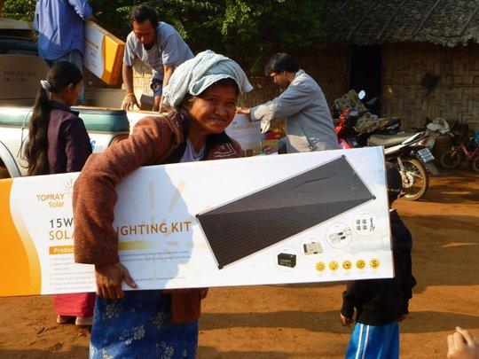 A photo from our last solar lighting project