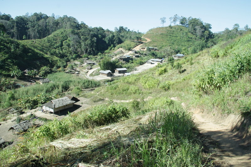 The remote area in Shan State, Burma