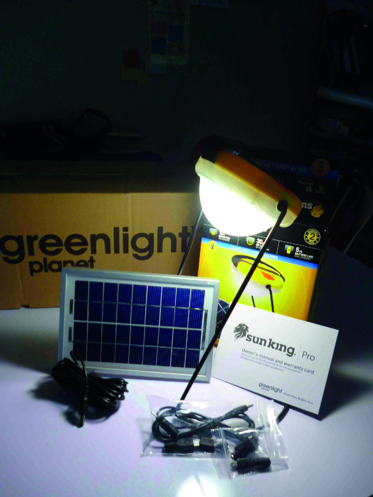 The new solar light we are currently testing