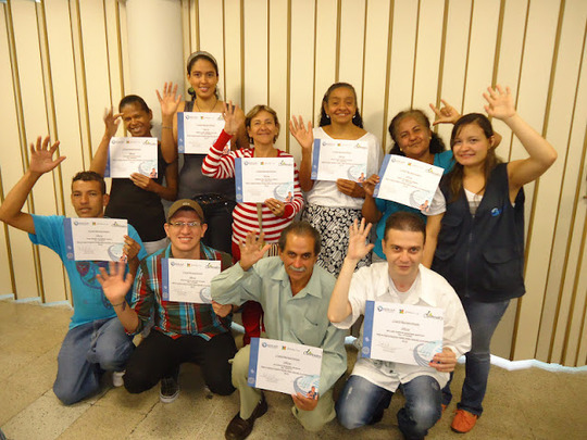 Alejandra and some of her students
