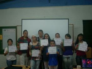 Andres and some of his graduating students