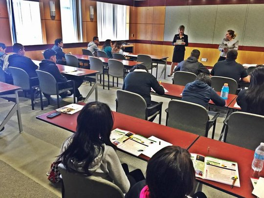 NFTE students in a finance lesson at Union Bank