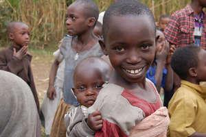 Local children in Cyanika, Rwanda.
