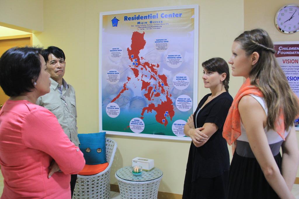 GlobalGiving visitors at CJFI Action Center