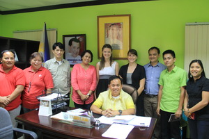 CJFI & GG officers with Tolosa Mayor and key staff