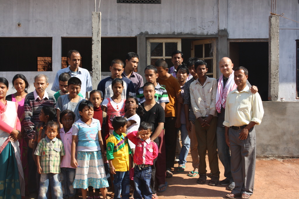 With students and staff at SHED, Sonapur