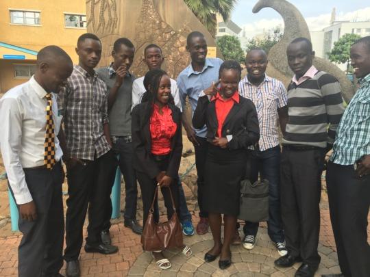 Samwel and Oguna with fellow Umoja students