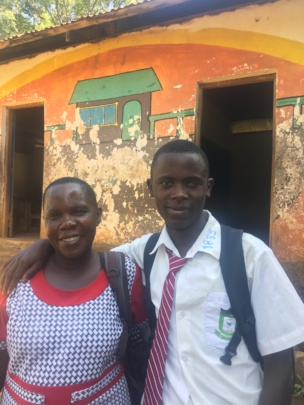 Jeconia, Form 2 at St. George's Sianda an his mom.