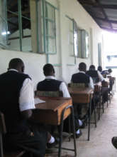 Students take the national exam