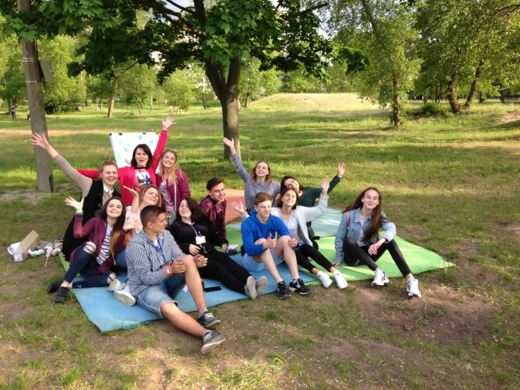 An outdoor training in Kaniv