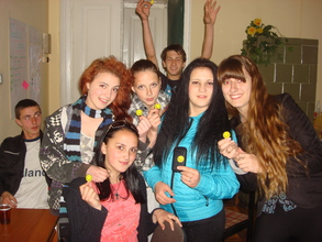 During the youth club meeting in Drogobych