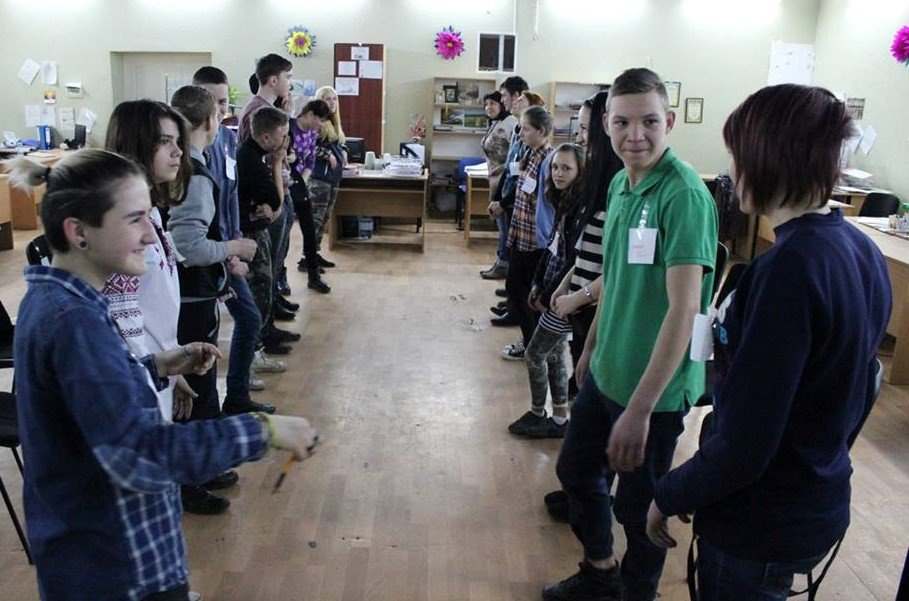 Youth club training in Odesa