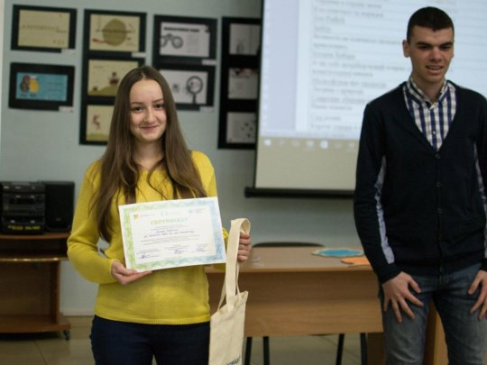 One of the winners of video contest in Dnipro