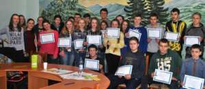 With their project certificates in Ivano-Frankivsk