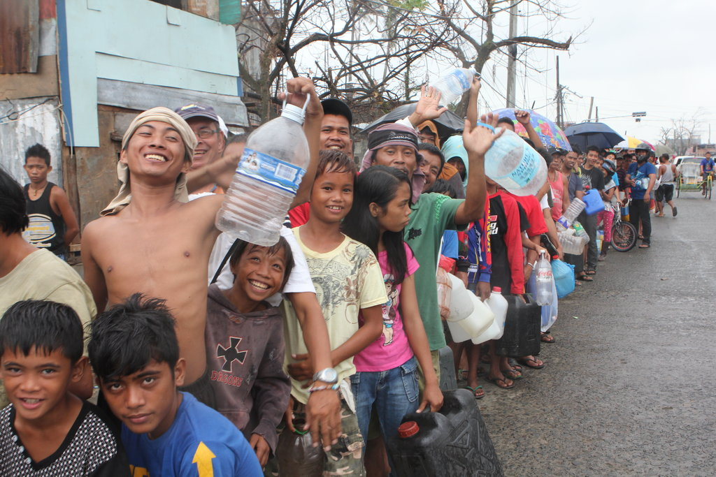 Fuel Relief Fund - people in line in Tacloban City