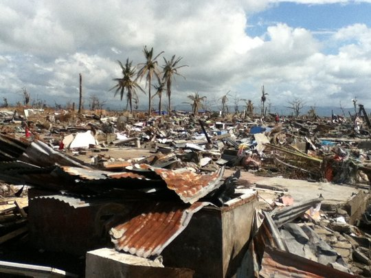 Devastation of Super Typhoon Haiyan - coastal town