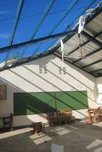 School in Tacloban loses its roof in the typhoon
