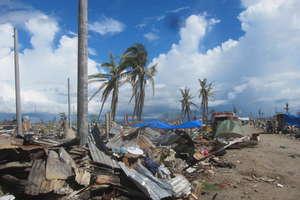 A flattened landscape in Tacloban