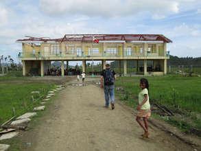 School resumes despite the damage