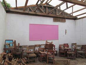 Many school buildings were damaged