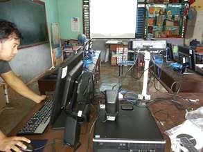 Asturias Elementary School e-classroom set up