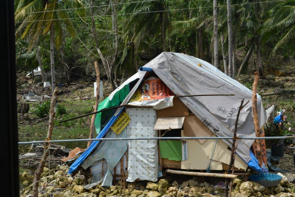 residents of Samar and Panay survive in ruins