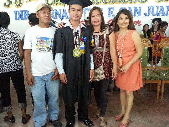 Bright Future Scholar Joram, BS Education w family