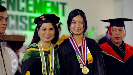 Ms. Lourdes, Elisha and VSU advisor