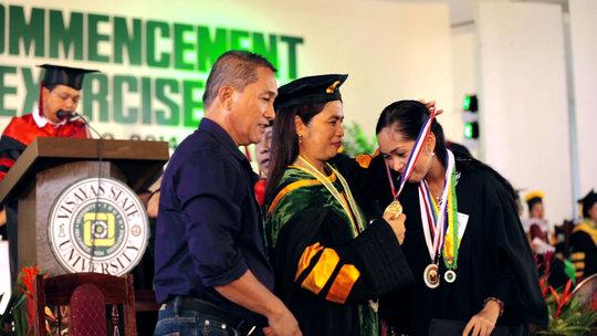 AAI scholar Fatima Jean Dimas graduates cum laude