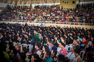 Commencement ceremony at VSU -- overcoming typhoon