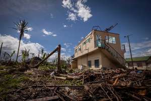 Destroyed school in Ormoc's Ipil district