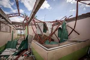 Devastated school building in Ormoc