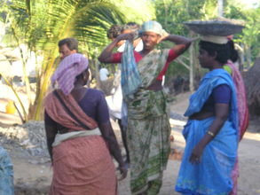Village women also participate