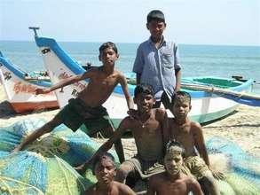 Post-tsunami kids in Devanappatinam