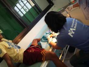Medical care in typhoon-affected areas