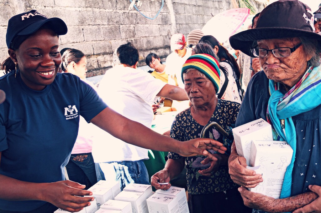 Distributing Hygiene Kits to Villagers