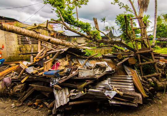 Devastation from Typhoon Haiyan