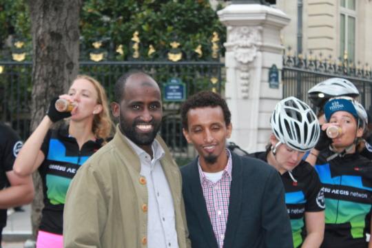 Welcoming Route2Good Bike Riders in Paris