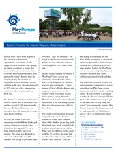 The PlayPump system at Escola Primaria de Intaka (PDF)