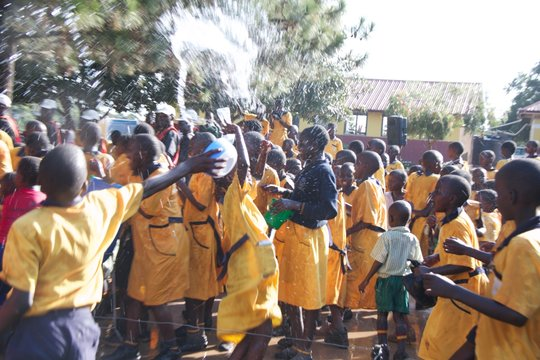 St. Lawrence students celebrate clean water.