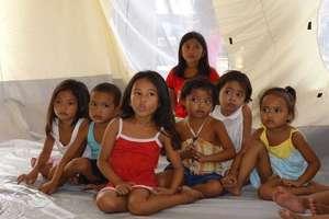 A child friendly space in Rizol school, Tacloban.