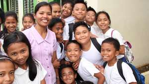 A school supported by UNICEF after Typhoon Haiyan