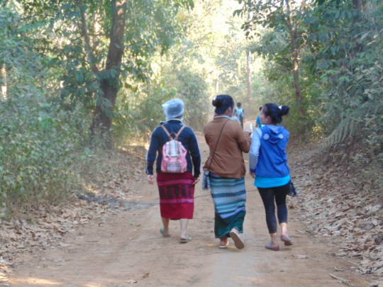 DARE Workers walking to next village