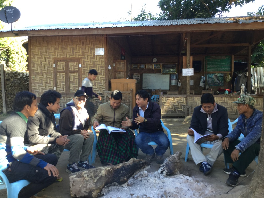 Sharing our Training Manual with Kachin Workers
