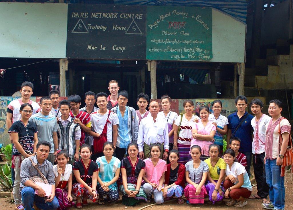 Step Back to Burma team stands together!