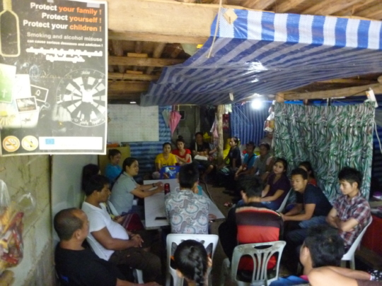 Training sessions in progress in Mae La camp