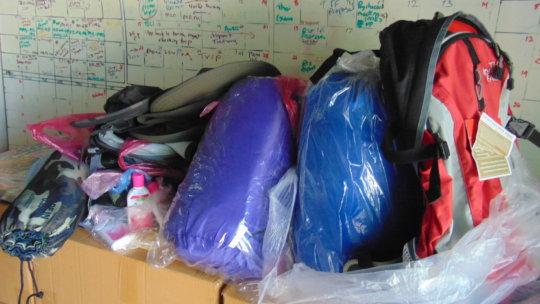 Backpacks ready for travel