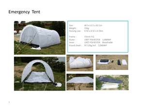 Emergency tent specifications (PDF)
