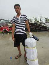 Jerome, Guiuan resident and tent beneficiary