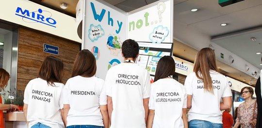 """minicompany program"" to 60 schools in Spain"